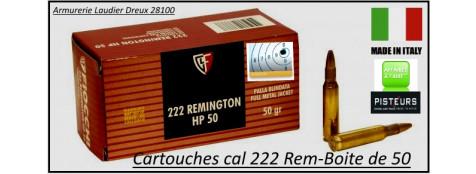 Cartouches-222 Rem-Fiocchi-FMJ-HP-Par 50-poids 3.24 gr-Promotion-Ref 21959
