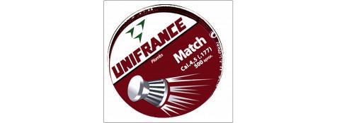 """Plombs air comprimé de précision""""UNIFRANCE"""". Cal 4.5mm par 500 tête plate.Ref 7633"""