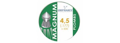 """Plombs air comprimé de précision""""UNIFRANCE"""". Cal 4.5mm par 500 tête pointue.Ref 7634"""