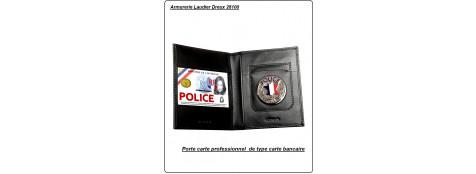 Porte carte  POLICE.-- Ouverture verticale ou horizontale.----Nouvelles cartes de taille type carte bancaire---