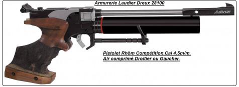 Pistolet Twinmaster MATCH COMPETITION .Cal 4.5mm.Allemand RÖHM air comprimé . DROITIER ou GAUCHER