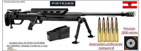 "Carabines-Steyr Mannlicher-HS 50-Calibre-50 BMG- 1 coup ou 5 coups-""Prix Promotion"""