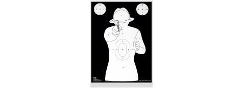 """Cibles silhouette type """"Colt""""-RSN1 Cartonnée.51X72 cm-Paquet de 10 cibles-Ref 17525"""