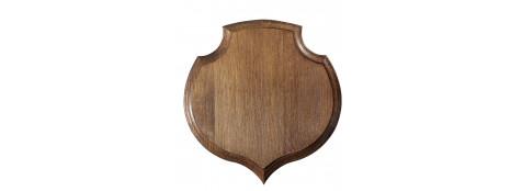 """Écussons en chêne en forme de """"  Coeur"""".18 x19,5, ou 22 x 20 cm."""