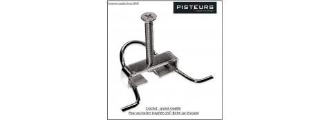 Crochet-fixation-grand modèle-pour-cervidés-pour écusson-Trophées-Ref 15816-B