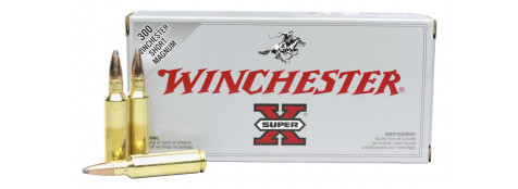 "Cartouches grande chasse Winchester. Cal 375 winch(boite de 20) .Type Super X Power point.12,96 gr.(200 grains).""Promotions""Ref 1973"