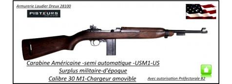 USM1-30M1-Semi-automatique-Surplus-militaire-Catégorie-B2 E-Trés bon état-Ref 29873