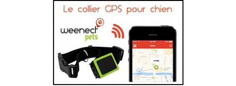Collier-repérage-Equipé d'une balise GPS-Weenect Pets-NOUVEAUTE- pour animaux-(ou autre)-Monde entier -sur 3 mètres-Ref 25326