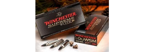 Cartouches grande chasse Winchester. Cal 30-06 (boite de 20) .Type Suprème XP3 Elite.9.72 gr.(150 grains).Ref 19103