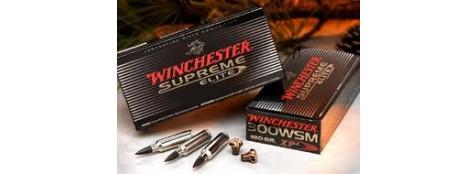 "Cartouches grande chasse Winchester. Cal 338 winch mag (boite de 20) .Type Super X ,ou Suprème.""Promotions"""
