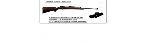 "Carabine  de chasse ZASTAVA  type Mauser .Calibre 300 winch mag.+Kit  Viseur point rouge.""Promotion"".Ref 12912"