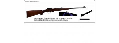 "Carabine Zastava -Type MINI MAUSER - Mod CZ 99-  Cal 22 LR.+Kit lunette 4x32-silencieux-housse-""Promotion""-Ref 17517"