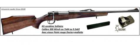 """Carabines Solitaire Unifrance en kit avec Viseur Docter . Cal 7x64, ou 300 winch mag , ou  9.3x62.Répétition manuelle.""""Promotions""""."""