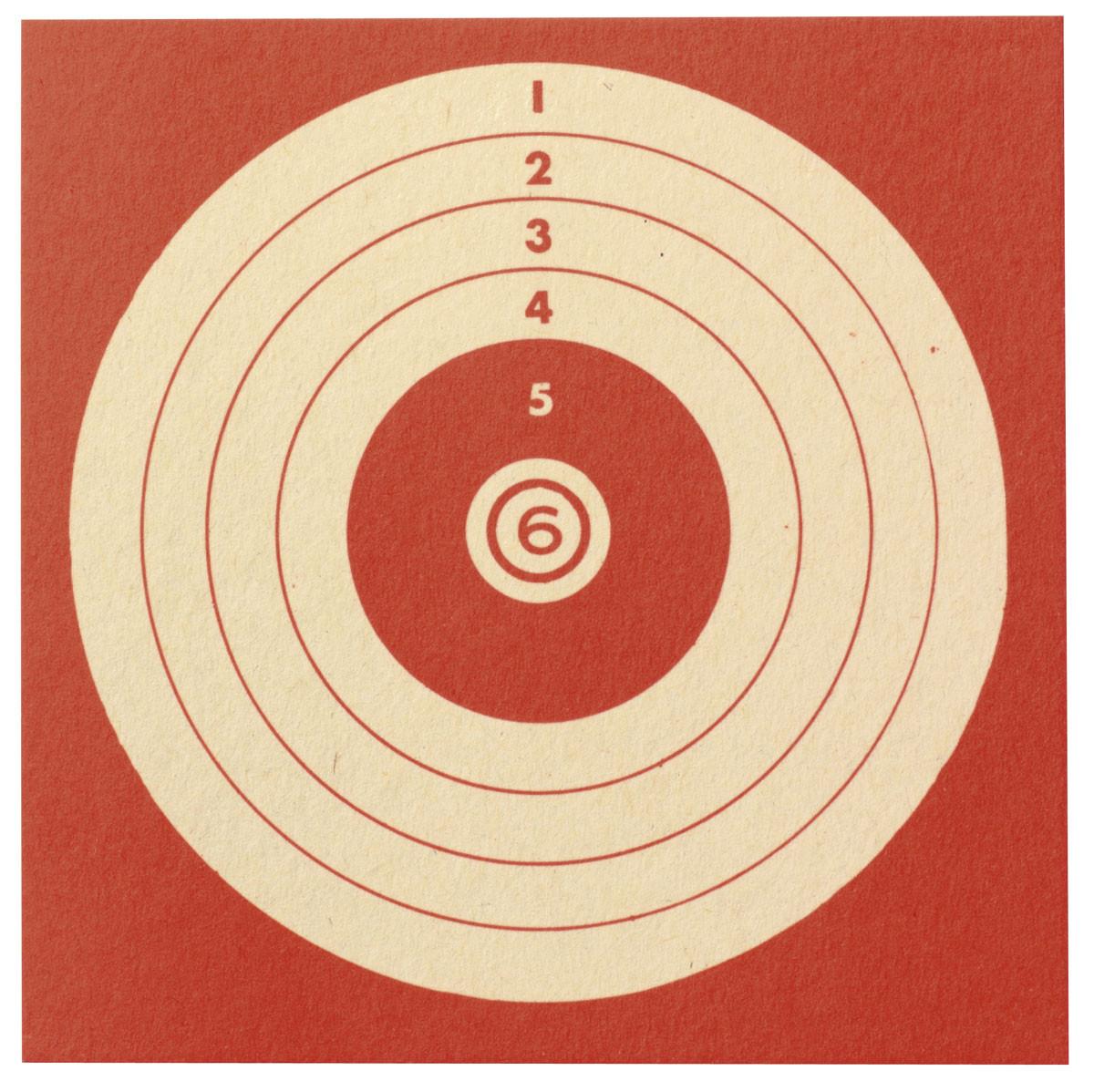 Cibles de tir cartonnées 10X10cm- Paquet de 100-Ref 1851