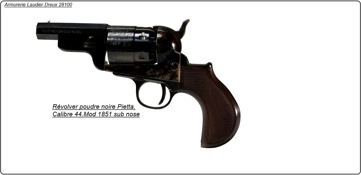 """Révolver- PIETTA- Poudre noire- 1851- YANK SNUBNOSE- cal 44-""""Promotion""""-Ref 12959"""