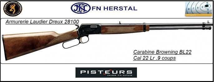 Carabine-Browning-BL 22-GRADE 2-Cal 22Lr-(Type Winchester à levier)-Promotion-Ref 15073