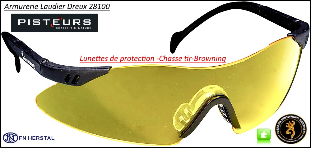 c563ad26e7ff2 Lunettes-protection-Browning-Claybuster-Tir-Chasse-coloris-jaune-ou-blanc  translucide