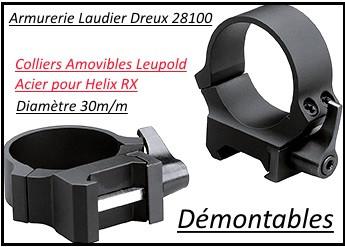 prix favorable Vente chaude 2019 remise pour vente Montage- amovible-démontable- QRW-acier-2 parties -Leupold-Colliers de  30m/m- rail de 21 m/m-Ref 21342