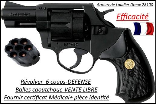 """Révolver-défense- SAFEGOM-balles caoutchouc-6 coups-Cal 11.60m/m-""""Promotion""""-Ref 21682"""