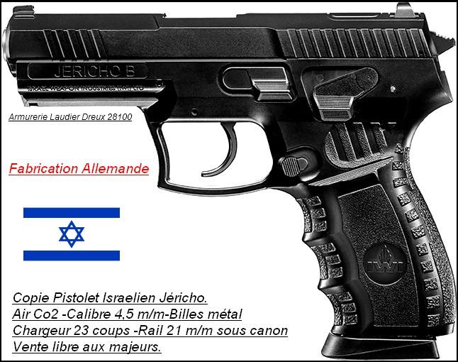 "Pistolet -Jericho-IWI-Umarex CO2 -Cal 4.5mm- 23 coups-""Promotion""-Ref 21940"