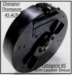 Chargeur-Thomson-Carabine-1928-A1-Semi-automatique USA-Calibre 45 ACP-Chargeur-Réduit -10 coups-Catégorie B5-Ref 29423