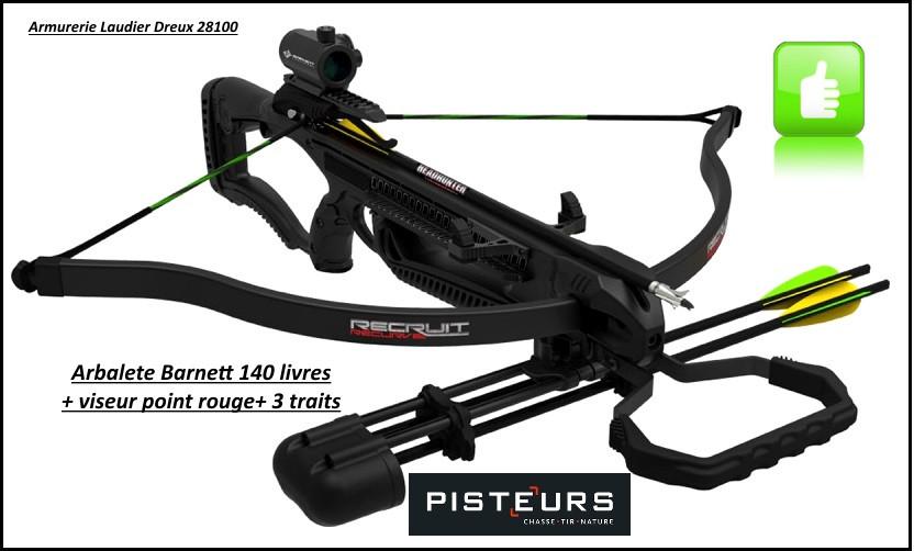 "Arbalète-Barnett-crossbows- recurv -140 Livres+point rouge+flèches -""Promotion""-Ref  29650"