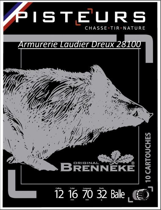 "Cartouches à BALLES BRENNEKE ""UNIFRANCE"" -cal 12- 16- 20-  410."