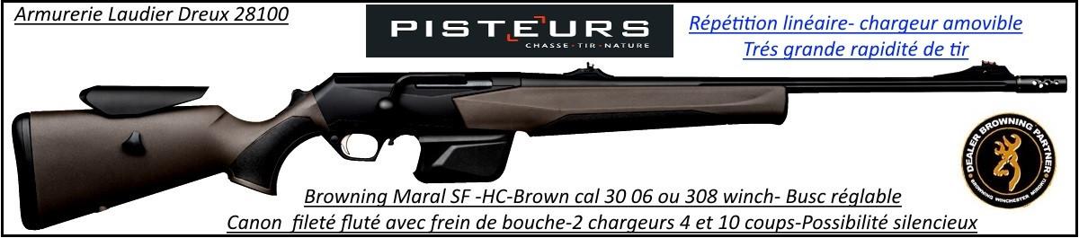 Browning-Maral-SF-composite-brown-HC-Canon-fluté-Linéaire-répétition-Cal-30-06-canon fileté-frein bouche-busc-réglable-Promotion-Ref 33510