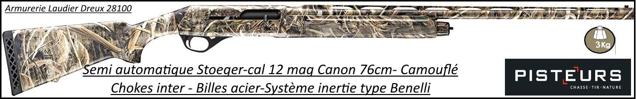 Semi-automatique-Stoeger-Camouflé-M3000-Cal-12 mag-Canon 76 cm-Ref 34657