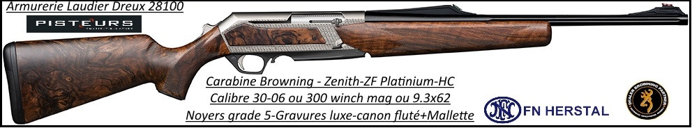 Browning Bar Zenith SF Platinium HC-Semi automatique-noyer-grade 5-Calibre-30-06-Promotion-Ref 35547