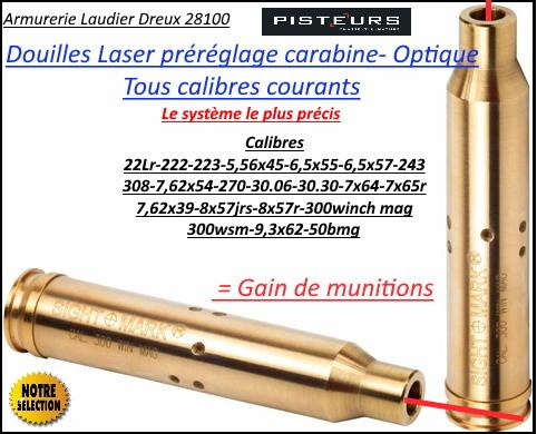 Douille LASER Sight Mark carabine calibre 300 winch mag réglage lunette- Ref 37041