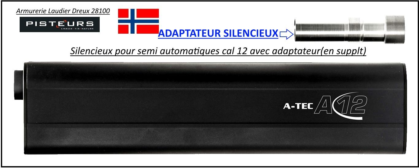 Adaptateur-Silencieux-Cal 12-invector -A-TEC-12-Benelli-semi-auto-Ref -adaptateur-A-TEC12-Benelli-semi-auto-33251