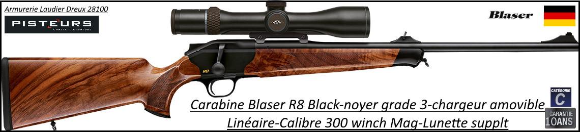 Carabine Blaser R8 Black répétition Linéaire Calibre 300 winch mag Chargeur amovible-Promotion-Ref Blaser-R8-black