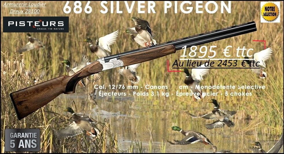 Superposé Beretta 686 Silver pigeon 1 nouveau modele calibre 12 mag-Canons 71 cm-Promotion-Ref 37757