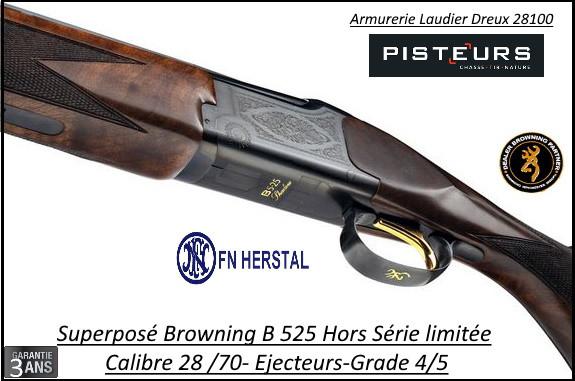 Superposé Browning B525 Shadow Calibre 28/70 Hors Série Limitée Canons 71cm noyer grade 5-Ref 018187813-FN