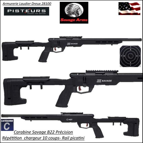 Carabine SAVAGE B22  Précision Calibre 22 LR Répétition 10 coups canon  fileté Varmint lourd Promotion- R782334