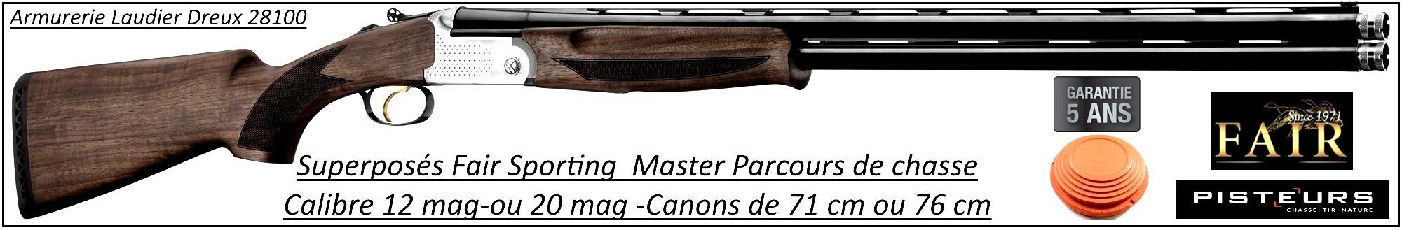 Superposé Fair Sporting Master Calibre 12 mag Canons 76 cm-Promotion-Ref DC450