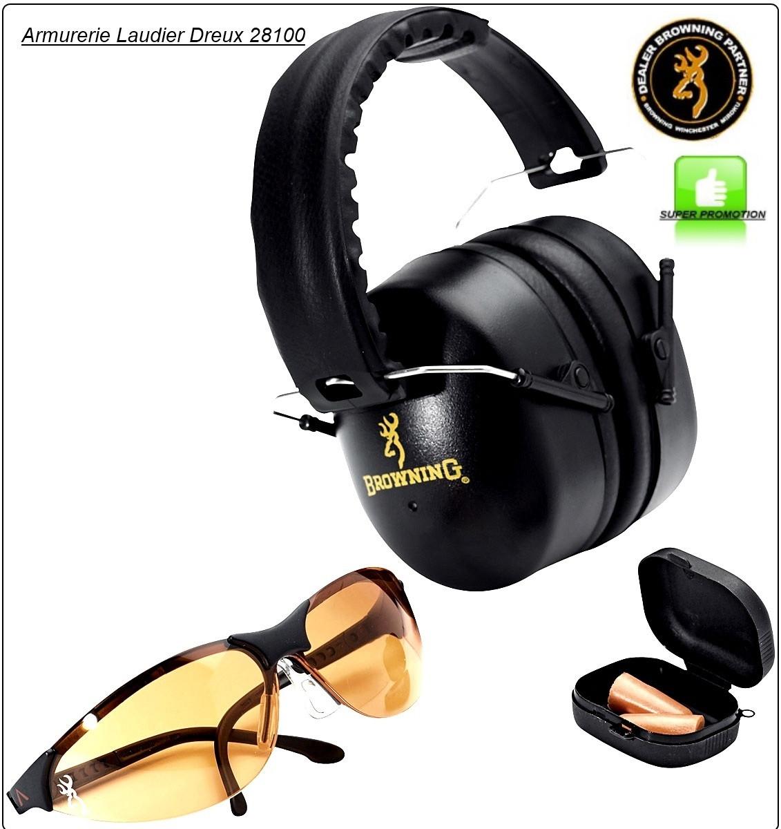 ee424e3f82cafc Casque-Browning- Protection-avec kit lunette- et bouchon d oreilles-Ref  17336