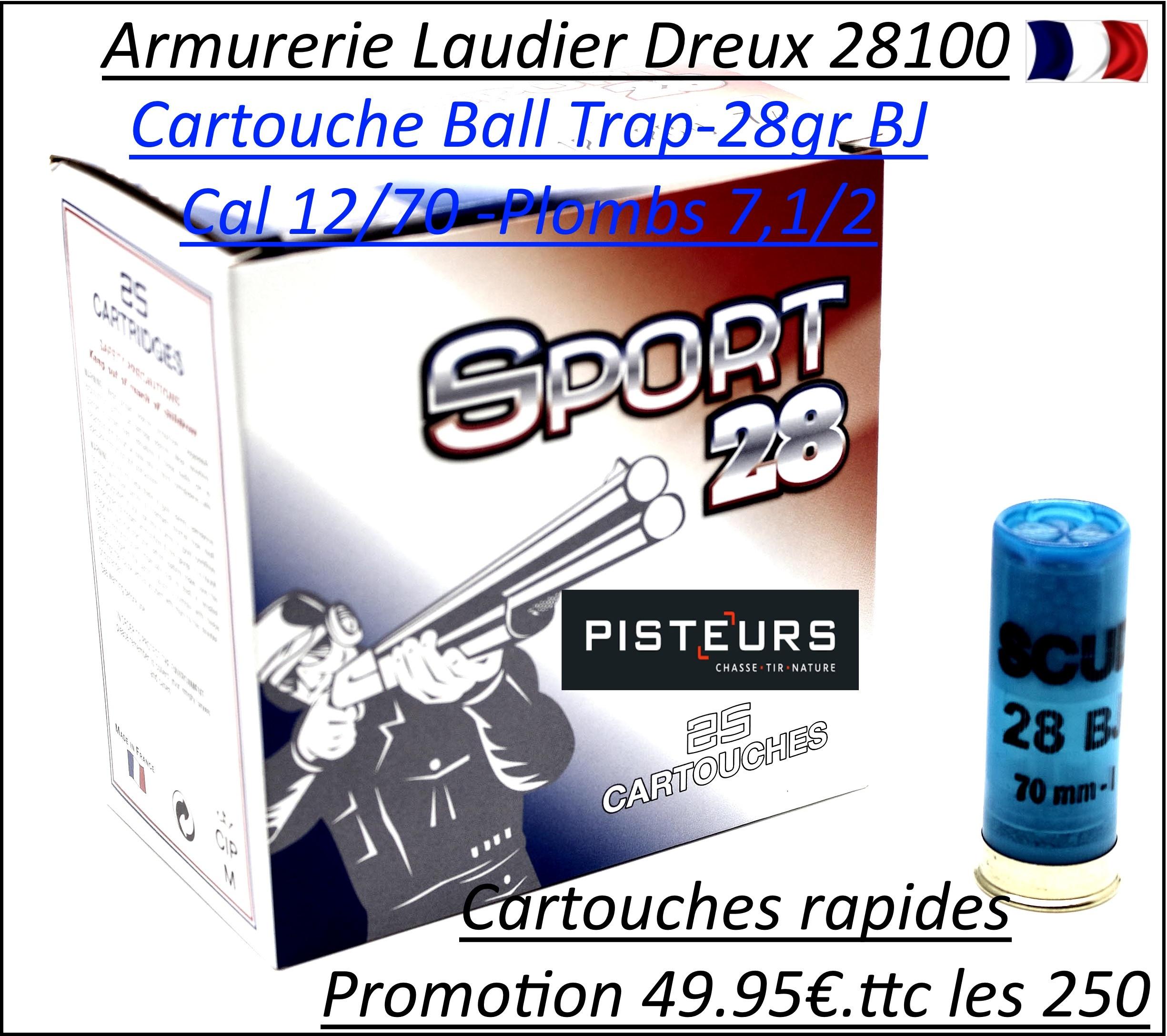 Cartouches Cal 12/70 SCUD Mary armes OFFRE SPECIALE PISTEURS Plomb 71/2 BOITE de 250-Ref 1117-scud