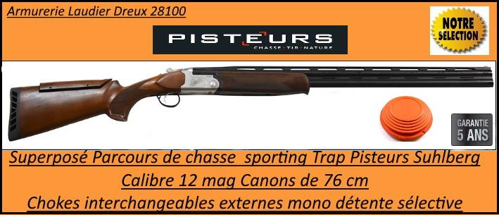 Superposé parcours Sporting Trap Suhlberg Pisteurs calibre 12 mag canons 76 cm chokes inter avec busc réglable ou non-Promotion