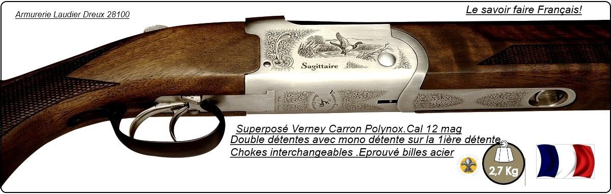 Superposé-Verney-Carron-Sagittaire-®-Polynox-®-St Etienne-Cal 12Mag-Extracteur-Promotion-Ref10359-27922