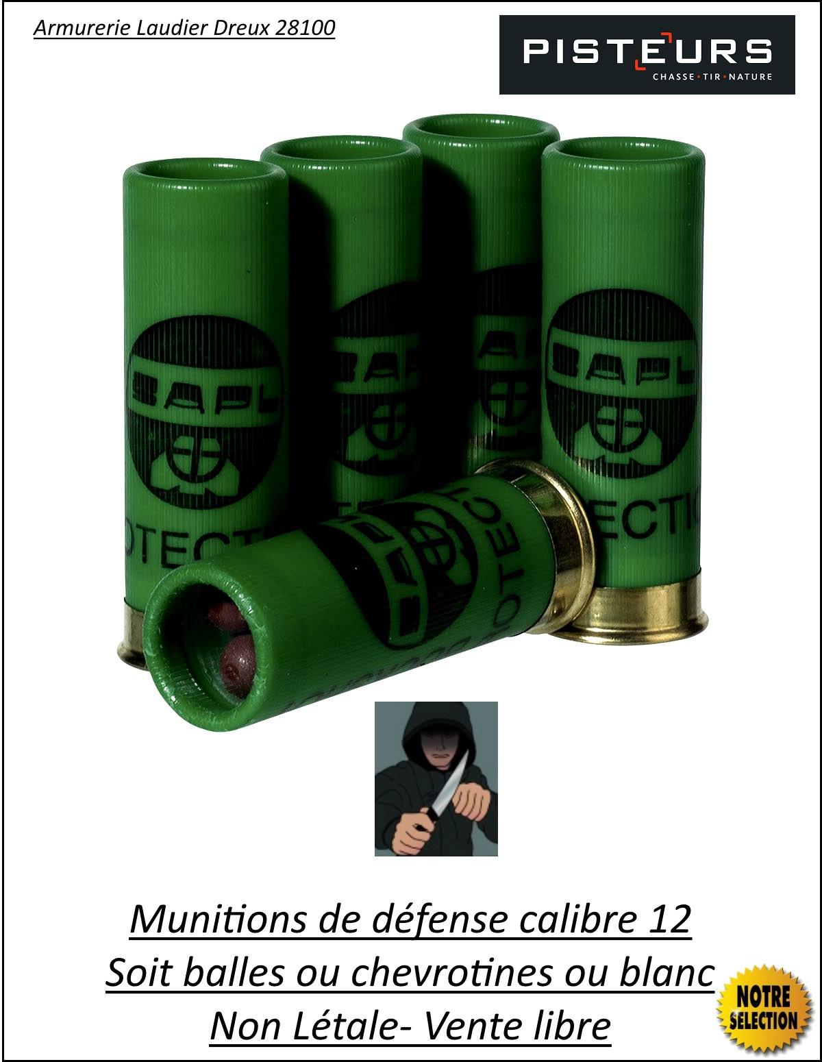 Cartouches-projectiles-caoutchouc-défense-Cal 12-ou-16-ou-blanc-fusils-ou-pistolets-cal 12 ou 16 -canons-Lisses