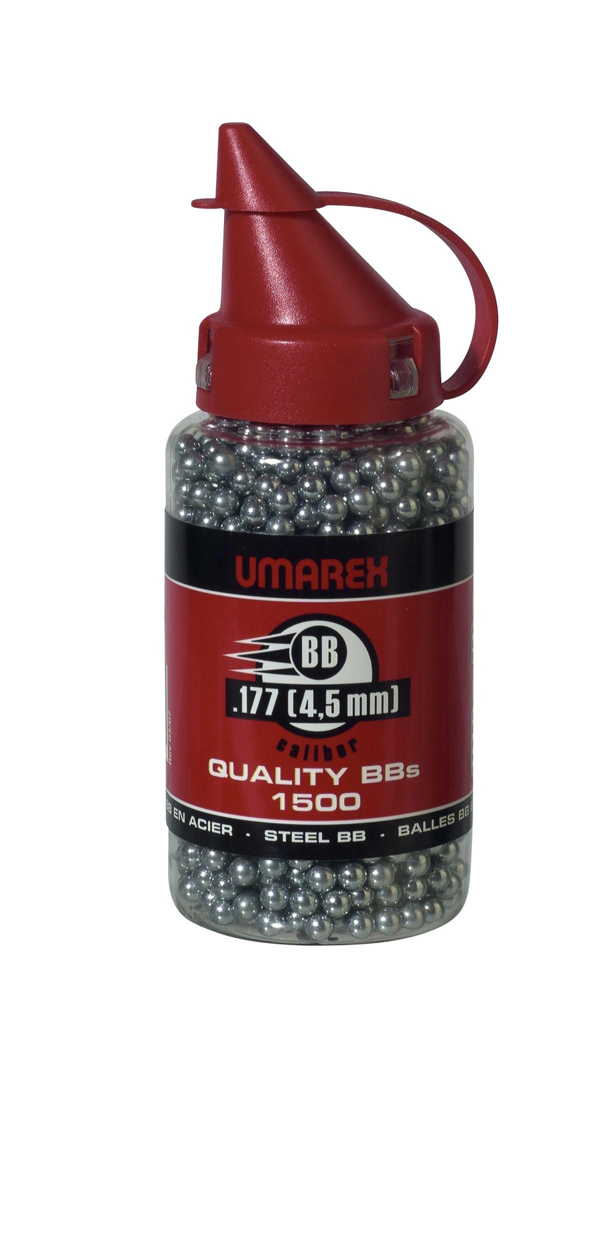 Plombs-ronds-Cal 4.5mm-Air comprimé-ou C02 -Sphériques acier-Par 1500.Ref 11056-27190