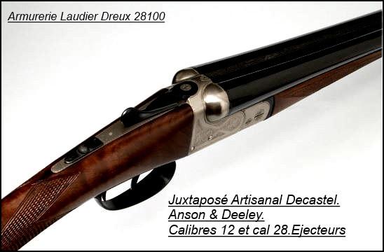 6401c449ff7 Juxtaposé-Decastel-Semi artisanal-type-Anson  Deeley-Calibre 28 70-  Ejecteurs-