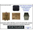 Cartouches calibre 308 winch GGG CIP (7.62x51) poids147 grains FMJ blindées par 640 cartouches+boite métallique étanche-Promotion-Ref ggg 308w-640