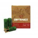 Cartouches de chasse UNIFRANCE SUPER 36.Bourres grasses - Cal 12/70 - Plombs n° 4,5,6,7,8  (36g)