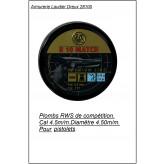 Plombs RWS- R 10 Match-Compétition-Cal 4.5mm-pistolet -Air comprimé- par 500 -Tête plate- Ref 10478