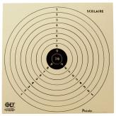 Cibles tir cartonnées Scolaire 16X16 cm- Paquet de 100-Ref 1853