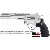 Revolver-Smith &Wesson-Umarex-CO2 Cal. 4,5 mm-couleur inox  Barillet 6 coups-Billes métal  Métallique- Promotion-Ref 17288