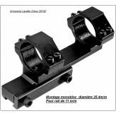 Montage-monobloc-métal-rail-11 mm-Diamètre-25,4 m/m-Ref 18193
